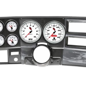 1973-83 Chevy / GMC Truck Carbon Fiber Dash Panel with C2 Electric Gauges
