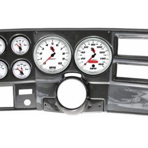 1973-83 Chevy / GMC Truck Carbon Fiber Dash Panel with C2 Electric Gauges