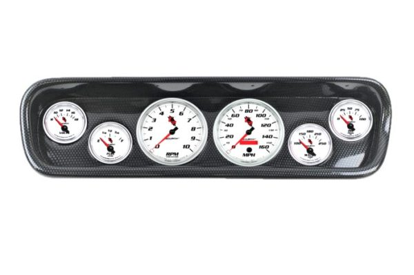 1964-65 Ford Mustang Carbon Fiber Dash Panel with C2 Electric Gauges
