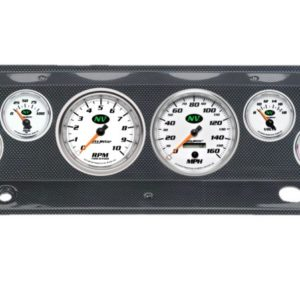 1964 Chevy Truck Carbon Fiber Dash Panel with NV Electric Gauges