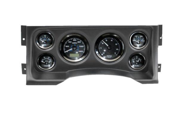 1995-98 Chevy / GMC Truck Black Dash Panel with Elite Series Black Premier Gauges