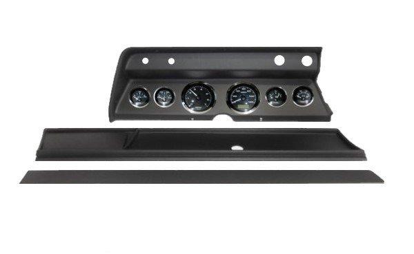 1966 Chevelle Black Dash Panel with Elite Series Black Premier Gauges