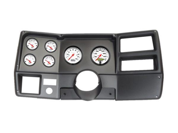 1973-83 Chevy / GMC Truck Black Dash Panel with Phantom Electric Gauges