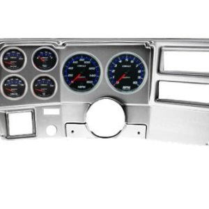 1973-83 Chevy / GMC Truck Brushed Aluminum Dash Panel with Cobalt Electric Gauges