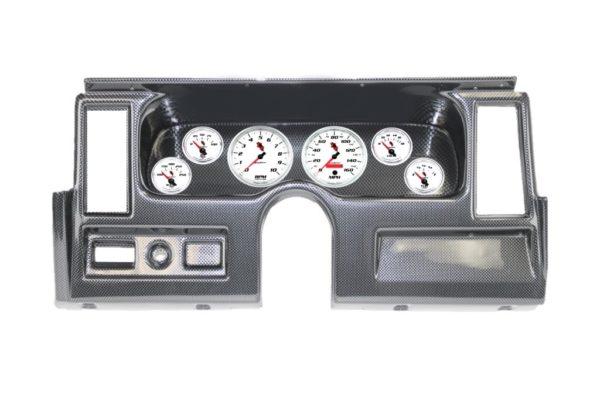 1977-79 Nova Carbon Fiber Dash Panel with C2 Electric Gauges