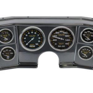 1982-88 G-Body Carbon Fiber Dash Panel with Carbon Fiber Electric Gauges