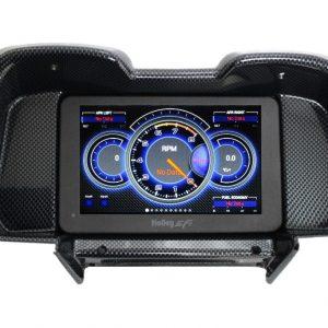 """2010-15 Camaro HOLLEY 7.5"""" Carbon Fiber Dash Panel Bundle"""
