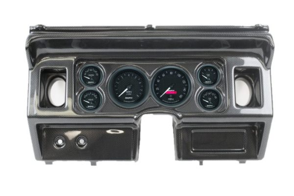 1980-86 Ford Truck Carbon Fiber Dash Panel with GT Series Electric Gauges