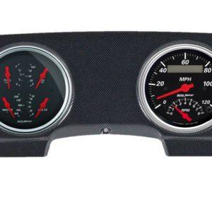 1981-87 Toyota FJ60 Landcruiser Carbon Fiber Dash Panel with Designer Black Electric Gauges