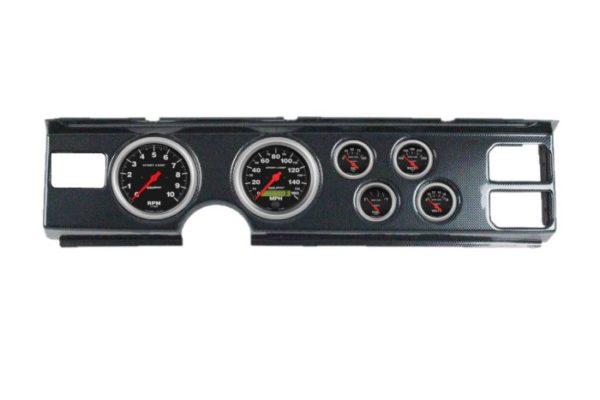 1982-84 Firebird Carbon Fiber Dash Panel with Sport Comp Electric Gauges