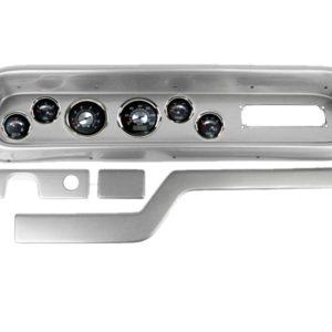 1965 Pontiac GTO / LeMans Brushed Aluminum Dash Panel with Elite Series Black Sterling Gauges
