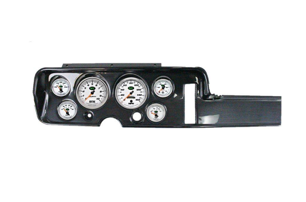 LeMans Dash Pad Overlay Without A//C 1968 Pontiac GTO