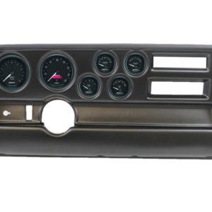 1970-72 Pontiac GTO / LeMans Black Dash Panel with GT Series Electric Gauges
