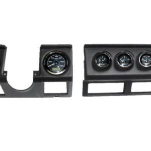 1987-95 Jeep Wrangler YJ Black Dash Panel with Elite Series Black Premier Gauges