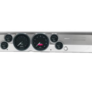 1967-69 Barracuda Brushed Aluminum Dash Panel with GT Series Electric Gauges