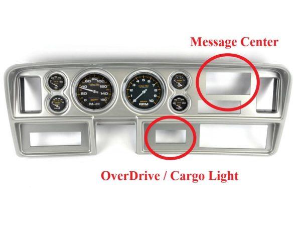 1981-93 Dodge Truck Brushed Aluminum Dash Panel with Carbon Fiber Electric Gauges