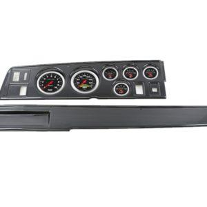 1968-70 MOPAR B-Body Carbon Fiber Dash Panel with Sport Comp Electric Gauges