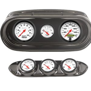 1962-64 Chevy II / Nova Carbon Fiber Dash Panel with Phantom Electric Gauges