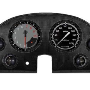 1963-67 Chevrolet Corvette Dash Panel - Carbon Fiber Autocross Gray