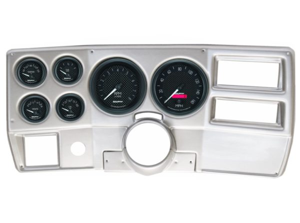 1984-87 Chevy / GMC Truck Brushed Aluminum Dash Panel with GT Series Electric Gauges