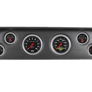 1960-63 GMC Truck Black Dash Panel with Sport Comp Electric Gauges
