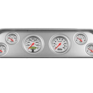 1964 GMC Truck Brushed Aluminum Dash Panel with Ultra-Lite Electric Gauges