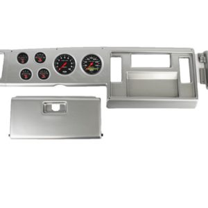 1982-85 Chevy S10 Truck Brushed Aluminum Dash Panel with Sport Comp Electric Gauges