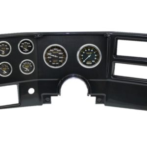 1984-87 Chevy / GMC Truck Carbon Fiber Dash Panel with Carbon Fiber Electric Gauges