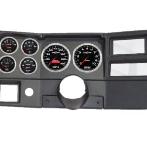 1984-87 Chevy / GMC Truck Black Dash Panel with Sport Comp II Electric Gauges