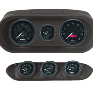 1965 Chevy II / Nova Black Dash Panel with GT Series Electric Gauges