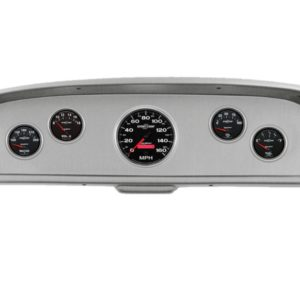 1961-66 Ford Truck Brushed Aluminum Dash Panel with Sport Comp II Electric Gauges