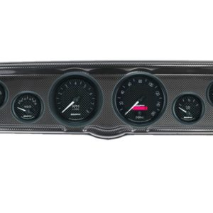 1966 Ford Mustang Carbon Fiber Dash Panel with GT Series Electric Gauges