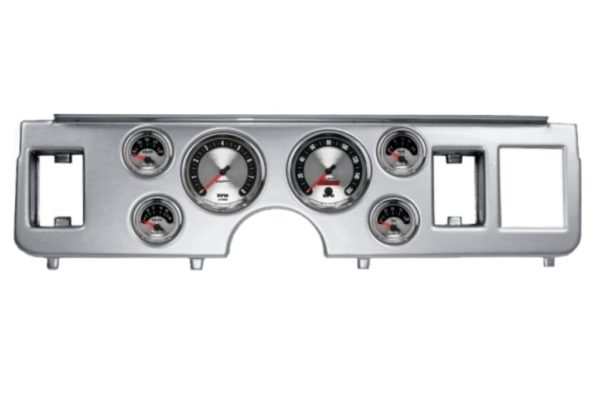 1979-86 Ford Mustang Brushed Aluminum Dash Panel with American Muscle Electric Gauges
