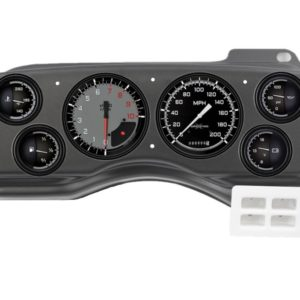 1987-89 Ford Mustang Black Dash Panel with AutoCross Gray Gauges