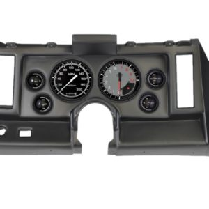 1969 Camaro Black Dash Panel with AutoCross Gray Gauges