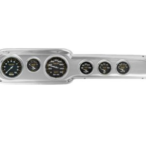 1962-64 Chevy II / Nova Brushed Aluminum Dash Panel with Carbon Fiber Electric Gauges