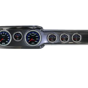 1965 Chevy II / Nova Carbon Fiber Dash Panel with Cobalt Electric Gauges