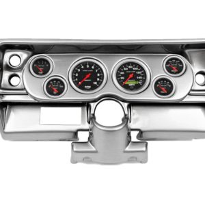 1968 Chevy II / Nova Brushed Aluminum Dash Panel with Sport Comp Electric Gauges