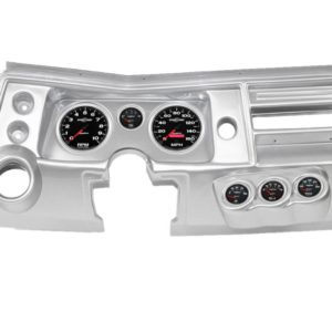 1968 Chevelle Brushed Aluminum Dash Panel with Sport Comp II Electric Gauges