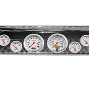 1966-67 Chevy II / Nova Carbon Fiber Dash Panel with Ultra-Lite Electric Gauges