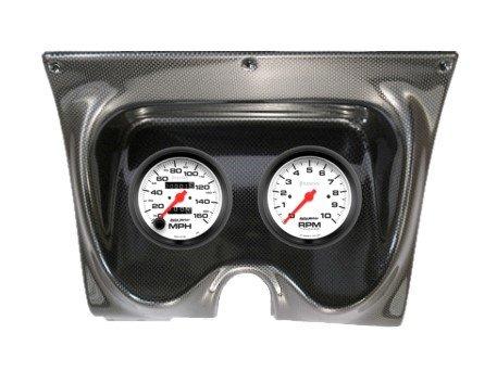 1967-68 Firebird Carbon Fiber Dash Panel with Phantom Mechanical Gauges