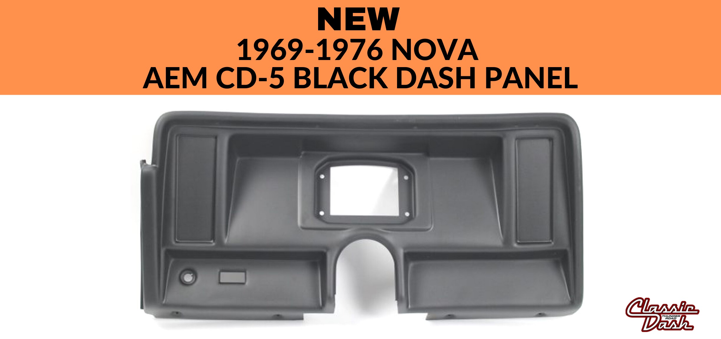 1969-1976 Nova AEM CD-5 Black Dash Panel