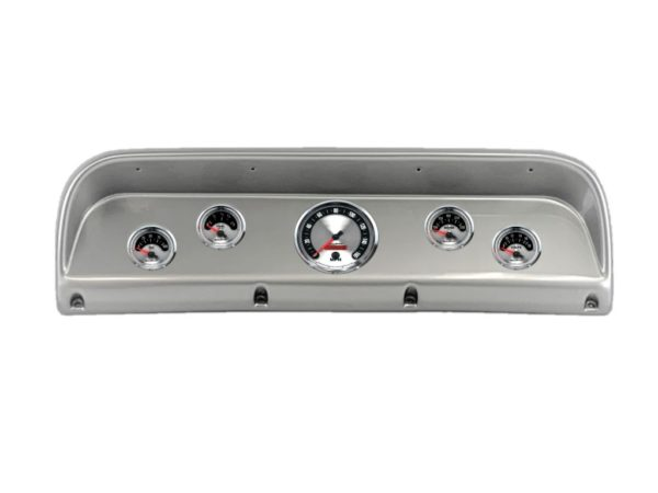 1967-72 Ford Truck Brushed Aluminum Dash Panel with American Muscle Gauges