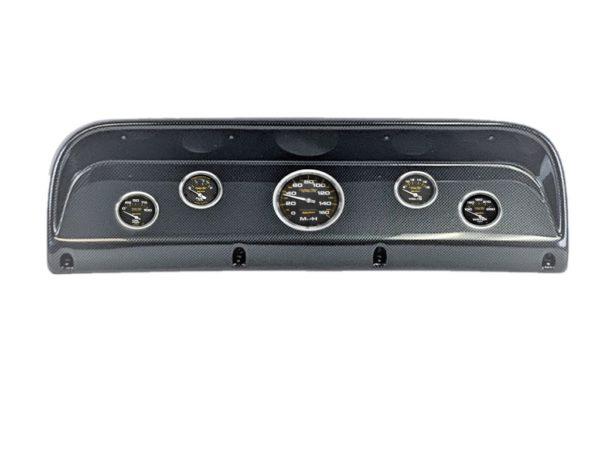 1967-72 Ford Ranger Carbon Fiber Dash Panel with Carbon Fiber Electric Gauges