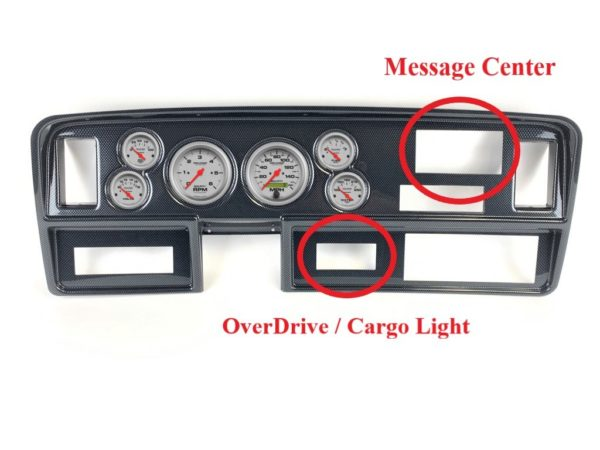 1981-93 Dodge Truck Carbon Fiber Dash Panel with Ultra-Lite Electric Gauges