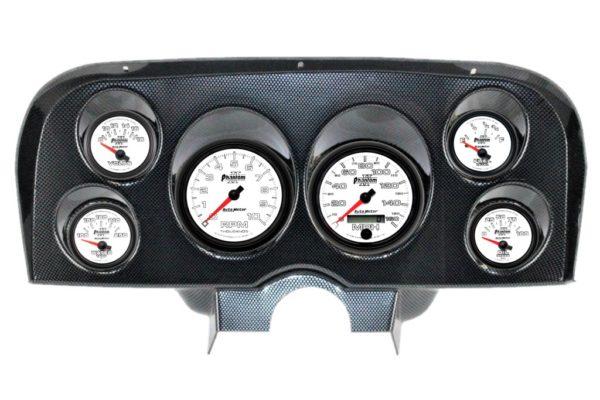 1969-70 Ford Mustang Carbon Fiber Dash Panel with Phantom II Electric Gauges