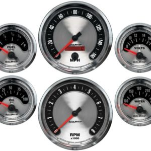 Autometer American Muscle Electric 6 Gauge Set
