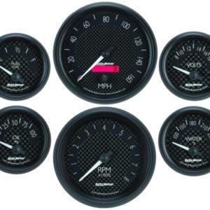 Autometer GT Series Electric 6 Gauge Set
