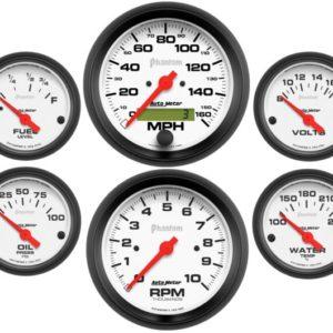 Autometer Phantom Electric 6 Gauge Set