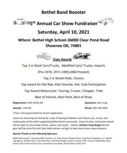 Bethel Band Booster Car Show